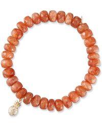 Sydney Evan - 14k Sunstone Rondelle Bracelet W/ Pineapple - Lyst