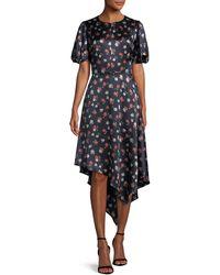 MILLY - Cynthia Floral-print Silk-stretch Dress - Lyst