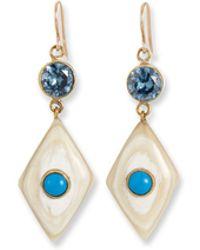Ashley Pittman - Ngome Diamond-shaped Drop Earrings - Lyst