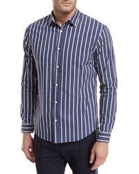 Vince - Column Striped Sport Shirt - Lyst