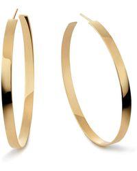 Lana Jewelry - 14k Flat Hoop Earrings - Lyst