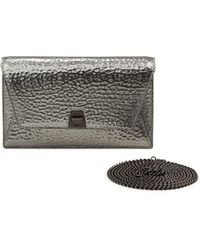Akris | Anouk Hammered Leather Envelope Clutch Bag | Lyst