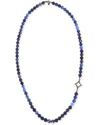 Armenta - Sodalite Beaded Necklace With Diamond Cravelli - Lyst