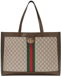 5edcc2b18dad Gucci - Ophidia Soft GG Supreme Canvas Tote Bag With Web - Lyst