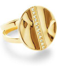 Ippolita - 18k Senso & #153 Disc Ring With Diamonds - Lyst