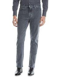 Ermenegildo Zegna - Men's Straight-leg Stretch-denim Jeans - Lyst
