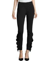IRO - Fholan Slim-fit Ponte Pants W/ Ruffled Trim - Lyst