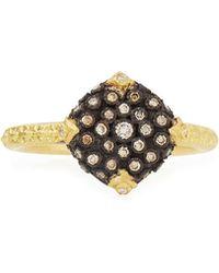 Armenta - Old World Pavé Diamond Cushion Ring - Lyst