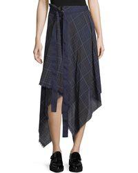 Public School - Danen Plaid Asymmetric Skirt - Lyst