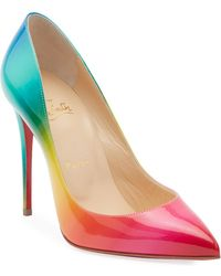 9881b6e60db Christian Louboutin Ariella Printed Red Sole Sandals in Blue - Lyst