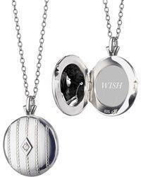 Monica Rich Kosann - Beaded Center Diamond Locket - Lyst