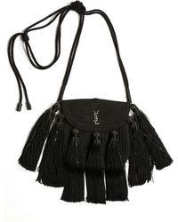 425f62d090 Saint Laurent - Vintage Passementerie Small Monogram Ysl Shoulder Bag With  Tassels - Silvertone Hardware -