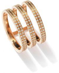 Repossi Berbere Three-row Diamond Ring In 18k Rose Gold - Metallic