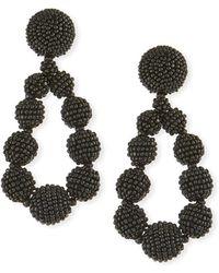 Sachin & Babi - Seed Bead Teardrop Clip-on Earrings - Lyst