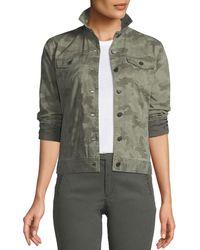ATM | Button-down Camo-print Stretch-cotton Denim Jacket | Lyst