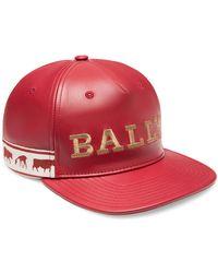 Bally - Men s Animal Leather Baseball Cap - Red - Size Xl - Lyst 6ed3f5085dd7