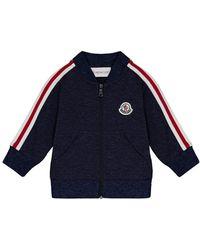 Moncler - Stripe-sleeve Zip-up Cardigan - Lyst