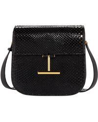 Lyst - Tom Ford White Tara Mini Bag In Calfskin With Shoulder Strap ... 13ecce3d11192