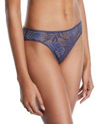 Hanro - Lace Illusion Bikini Briefs - Lyst