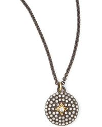 Armenta - Pave Diamond Shield Pendant Necklace - Lyst