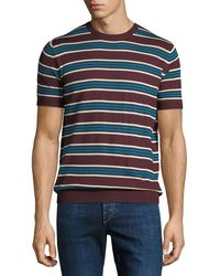 Prada - Striped Silk-blend Short-sleeve Sweater - Lyst