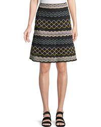 M Missoni - Ribbon Wave Striped A-line Skirt - Lyst