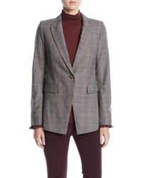 Lafayette 148 New York - Heather One-button Eloquent Plaid Jacket - Lyst