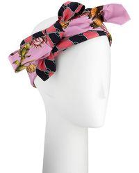 5800c13a5d3 Gucci - Botanic Chane Silk Knotted Headband - Lyst