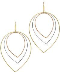 Lana Jewelry - Three-tier Mixed-shape Earrings - Lyst