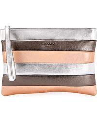 Balmain - Colorblock Striped Pochette Wallet - Lyst