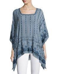 Calypso St. Barth - Petra Embellished Tunic Top - Lyst