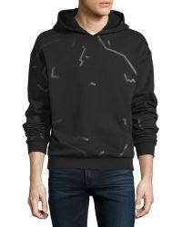T By Alexander Wang - Hooded Scribble-print Sweatshirt - Lyst