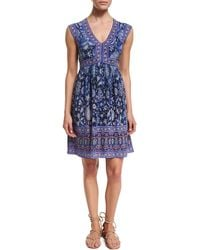 Rebecca Taylor - Sleeveless Silk Dreamweaver Dress - Lyst