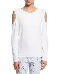 Varley - Euclid Cutout-sleeve Fleece Jumper - Lyst
