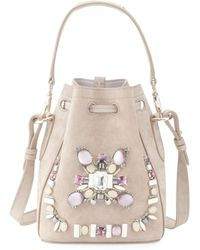 Pink Pony - Small Beaded Suede Bucket Bag - Lyst