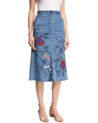 Tibi - Long-sleeve Oxford Shirting Bodysuit - Lyst