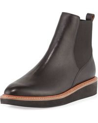 10 Crosby Derek Lam - Danielle Leather Pull-on Ankle Boot - Lyst