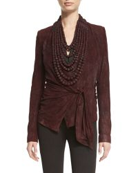 Urban Zen - High-neck Leather Bead Necklace - Lyst