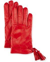Imoni | Leather Tassel Gloves | Lyst