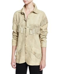 Pink Pony - Fringed Suede Jacket - Lyst