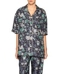 Burberry - Short-sleeve Floral Pyjama Shirt - Lyst