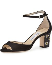 Jimmy Choo - Blossom Embroidered Sandal - Lyst