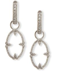 Jude Frances - Provence Champagne Open Oval Bezel Earring Charms With Diamonds - Lyst