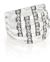 Ippolita - 925 Glamazon Domed Diamond Stripe Ring - Lyst