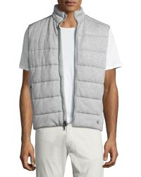 Pink Pony - Quilted Heather Knit Vest - Lyst