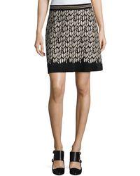Iris Von Arnim - Printed Suede Mini Skirt - Lyst