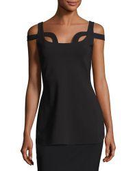 La Petite Robe Di Chiara Boni | Ilvie Cutout Stretch Jersey Top | Lyst