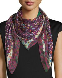 Mila & Such - Birth Square Silk Scarf With Cactus - Lyst