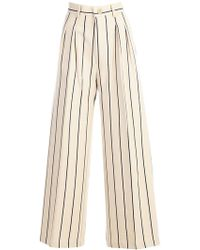 Erika Cavallini Semi Couture - Pantalone Christelle - Largo C/doppia Pences - Lyst