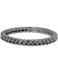"Paul Morelli - Black Diamond ""pinpoint"" Eternity Band - Lyst"